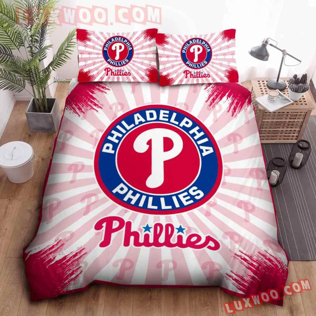 Mlb Philadelphia Phillies 3d Quilt Bedding Set V1