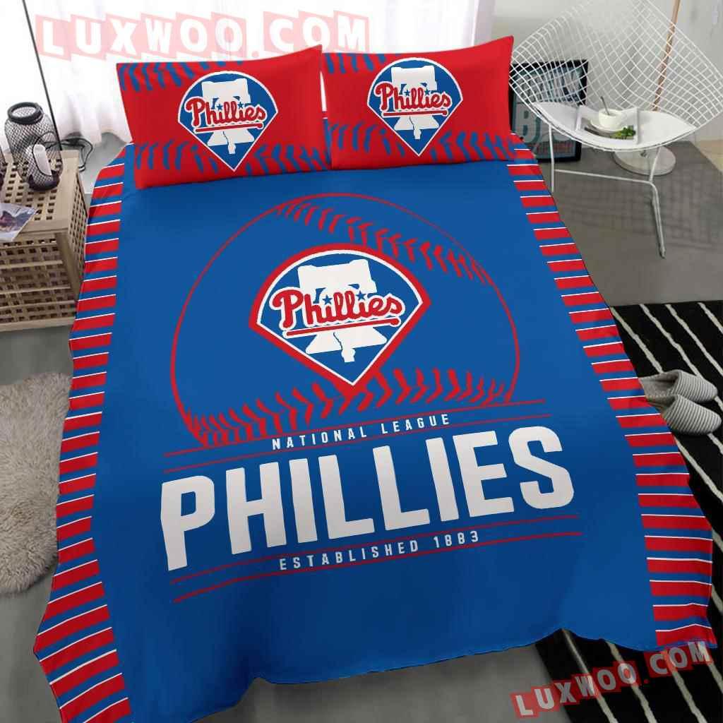 Mlb Philadelphia Phillies 3d Quilt Bedding Set V2