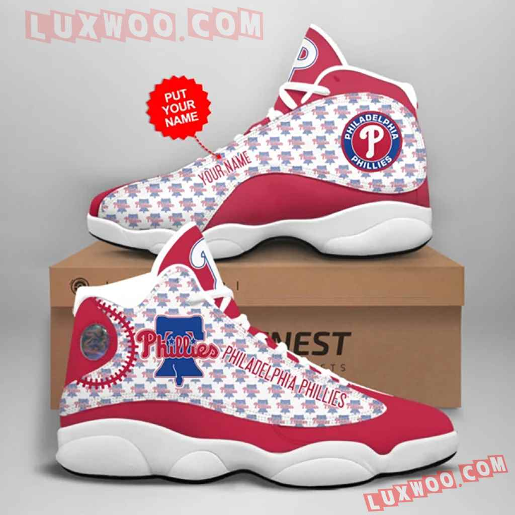 Mlb Philadelphia Phillies Air Jordan 13 Custom Shoes Sneaker V1 Personalized