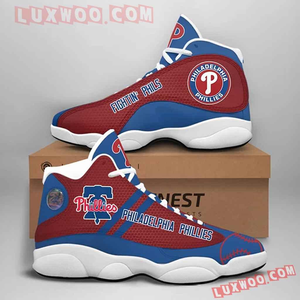 Mlb Philadelphia Phillies Air Jordan 13 Custom Shoes Sneaker V1