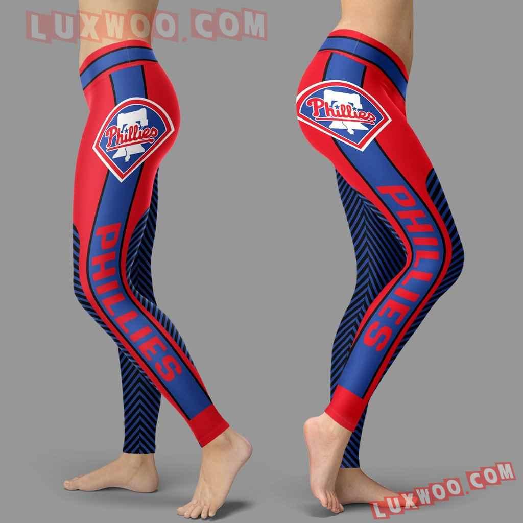 Mlb Philadelphia Phillies Leggings 3d Custom Print Leggings Sport V1