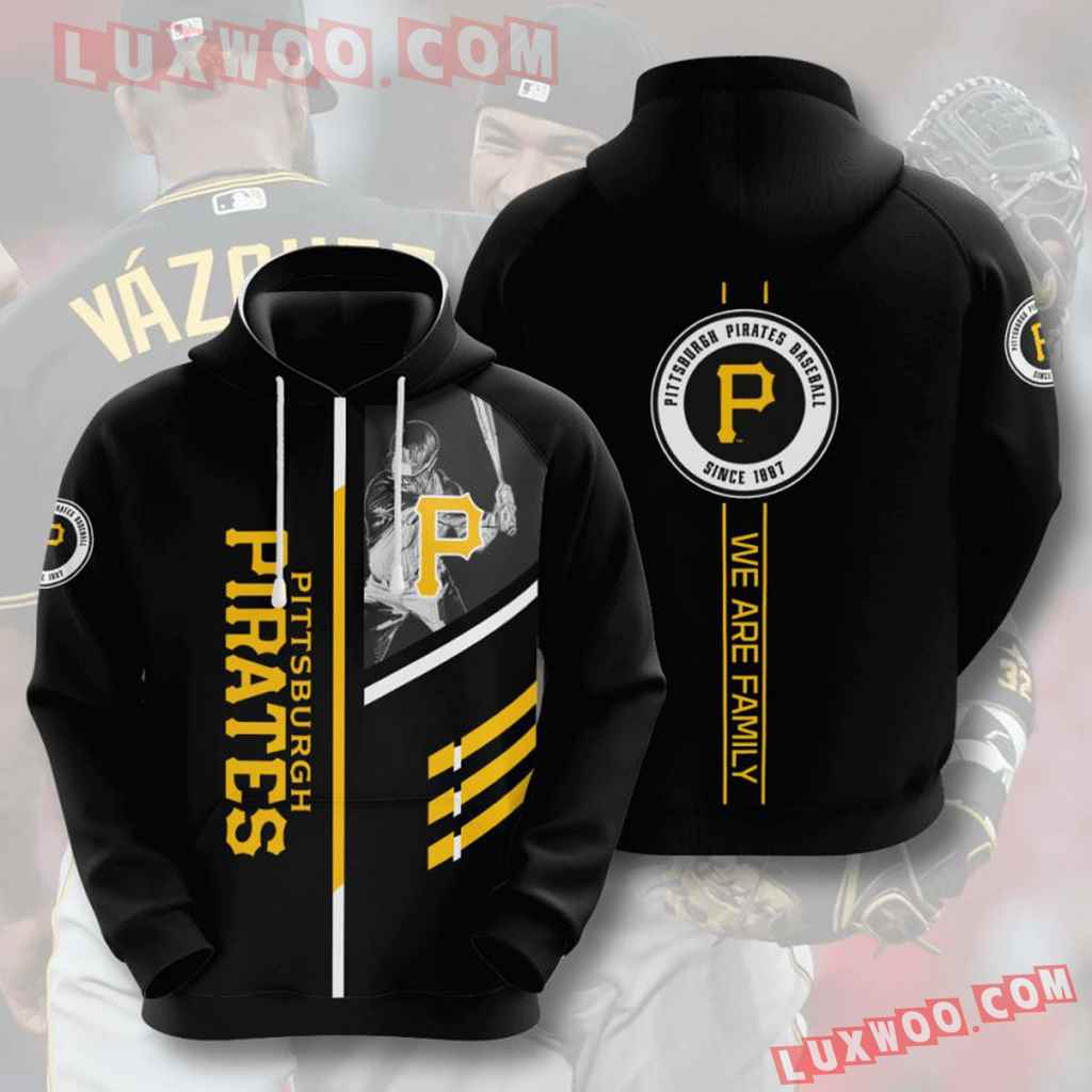 Mlb Pittsburgh Pirates 3d Hoodies Printed Zip Hoodies Sweatshirt Jacket V1