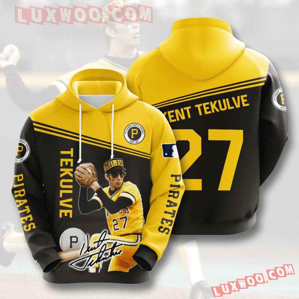 Mlb Pittsburgh Pirates 3d Hoodies Printed Zip Hoodies Sweatshirt Jacket V10