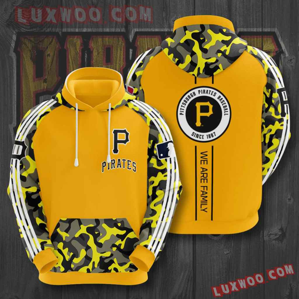 Mlb Pittsburgh Pirates 3d Hoodies Printed Zip Hoodies Sweatshirt Jacket V2