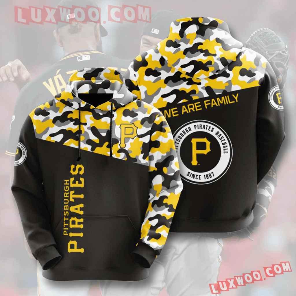 Mlb Pittsburgh Pirates 3d Hoodies Printed Zip Hoodies Sweatshirt Jacket V3