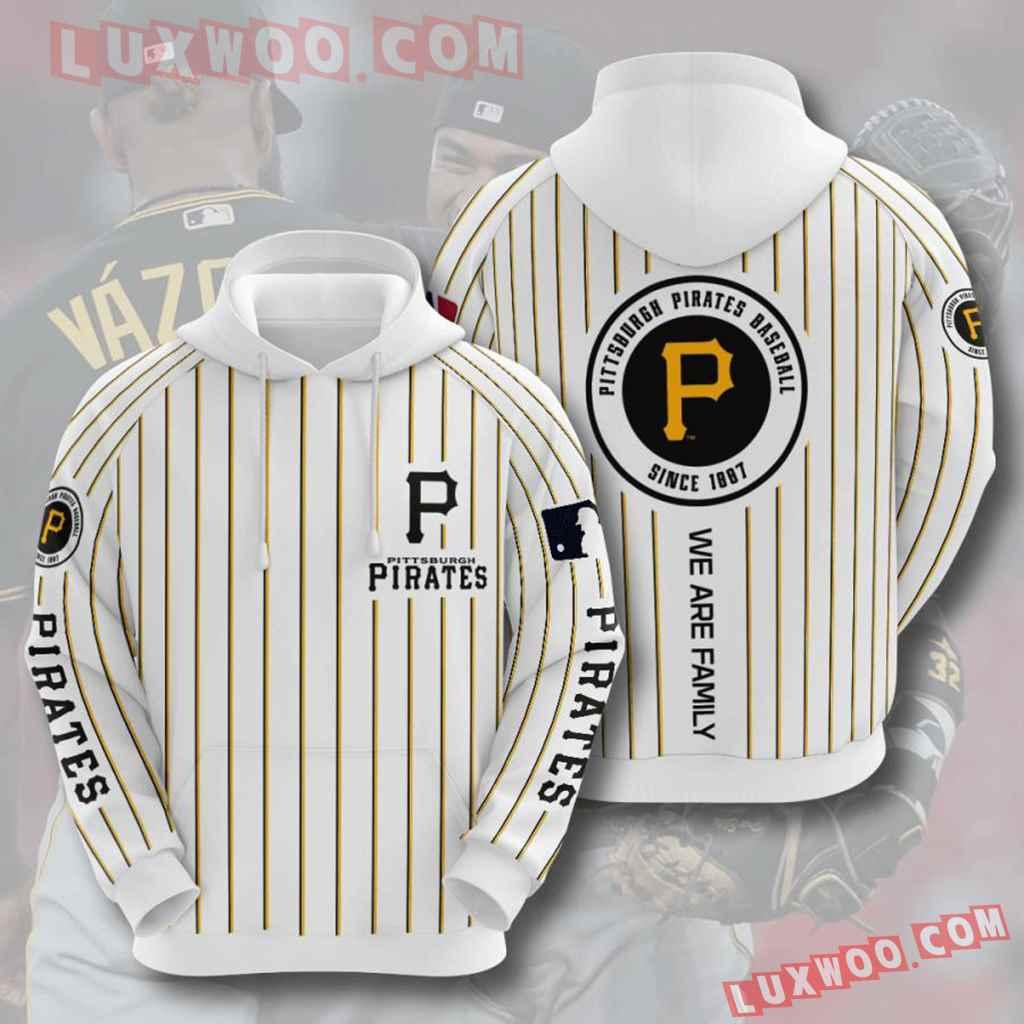 Mlb Pittsburgh Pirates 3d Hoodies Printed Zip Hoodies Sweatshirt Jacket V4