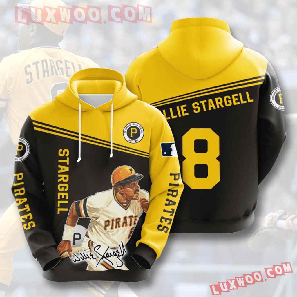 Mlb Pittsburgh Pirates 3d Hoodies Printed Zip Hoodies Sweatshirt Jacket V5