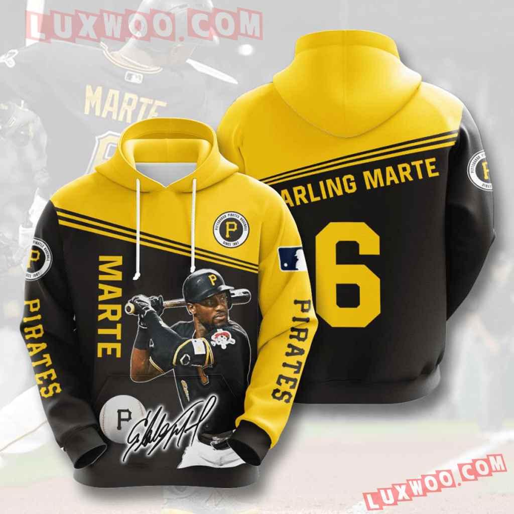 Mlb Pittsburgh Pirates 3d Hoodies Printed Zip Hoodies Sweatshirt Jacket V6