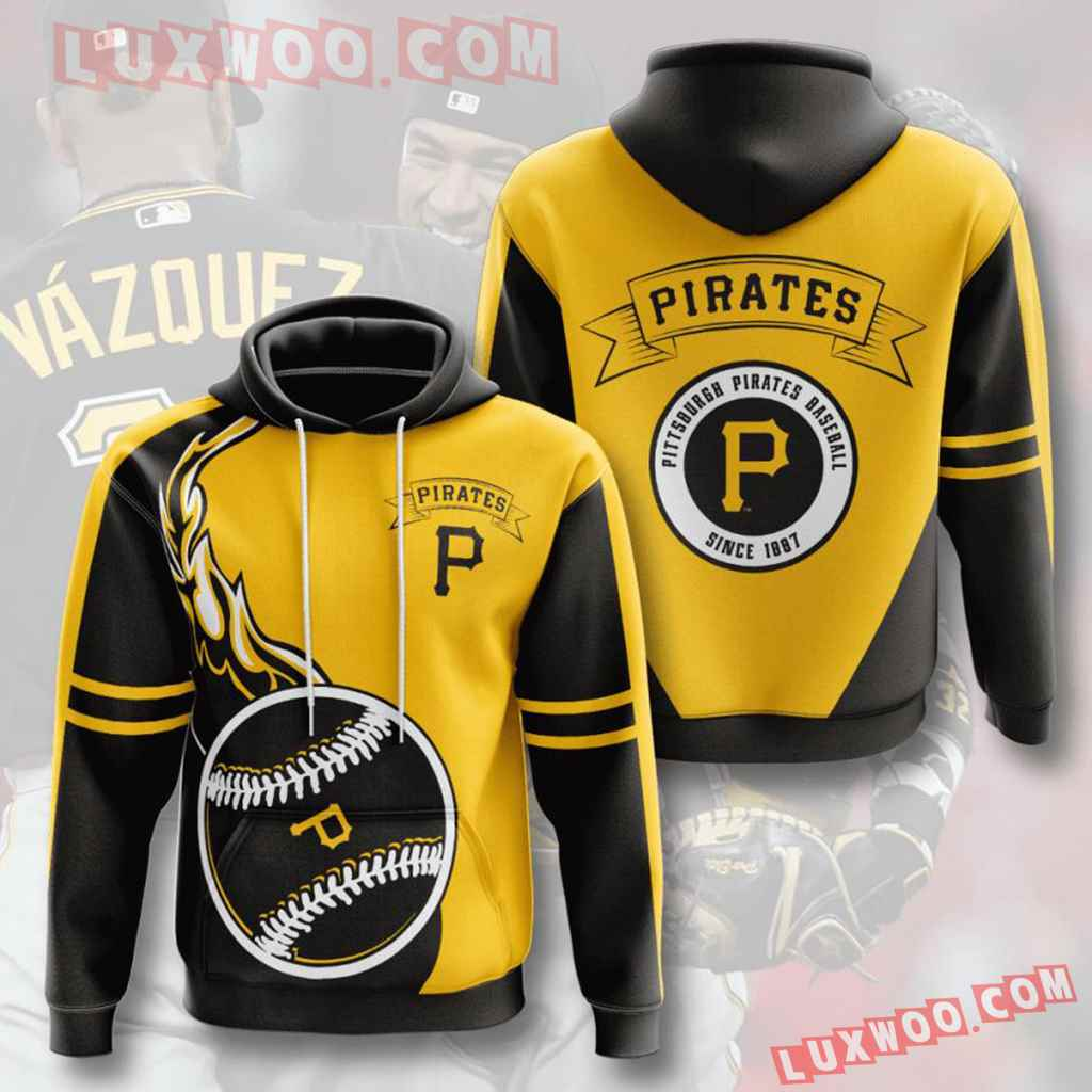 Mlb Pittsburgh Pirates 3d Hoodies Printed Zip Hoodies Sweatshirt Jacket V7