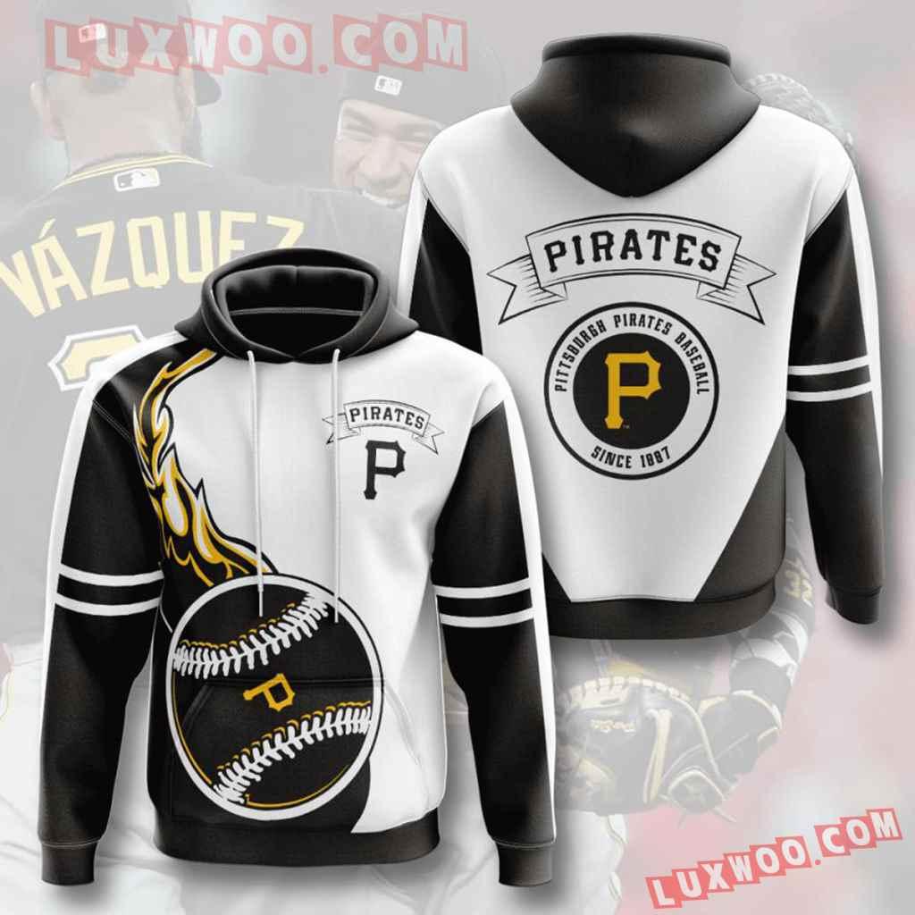Mlb Pittsburgh Pirates 3d Hoodies Printed Zip Hoodies Sweatshirt Jacket V8