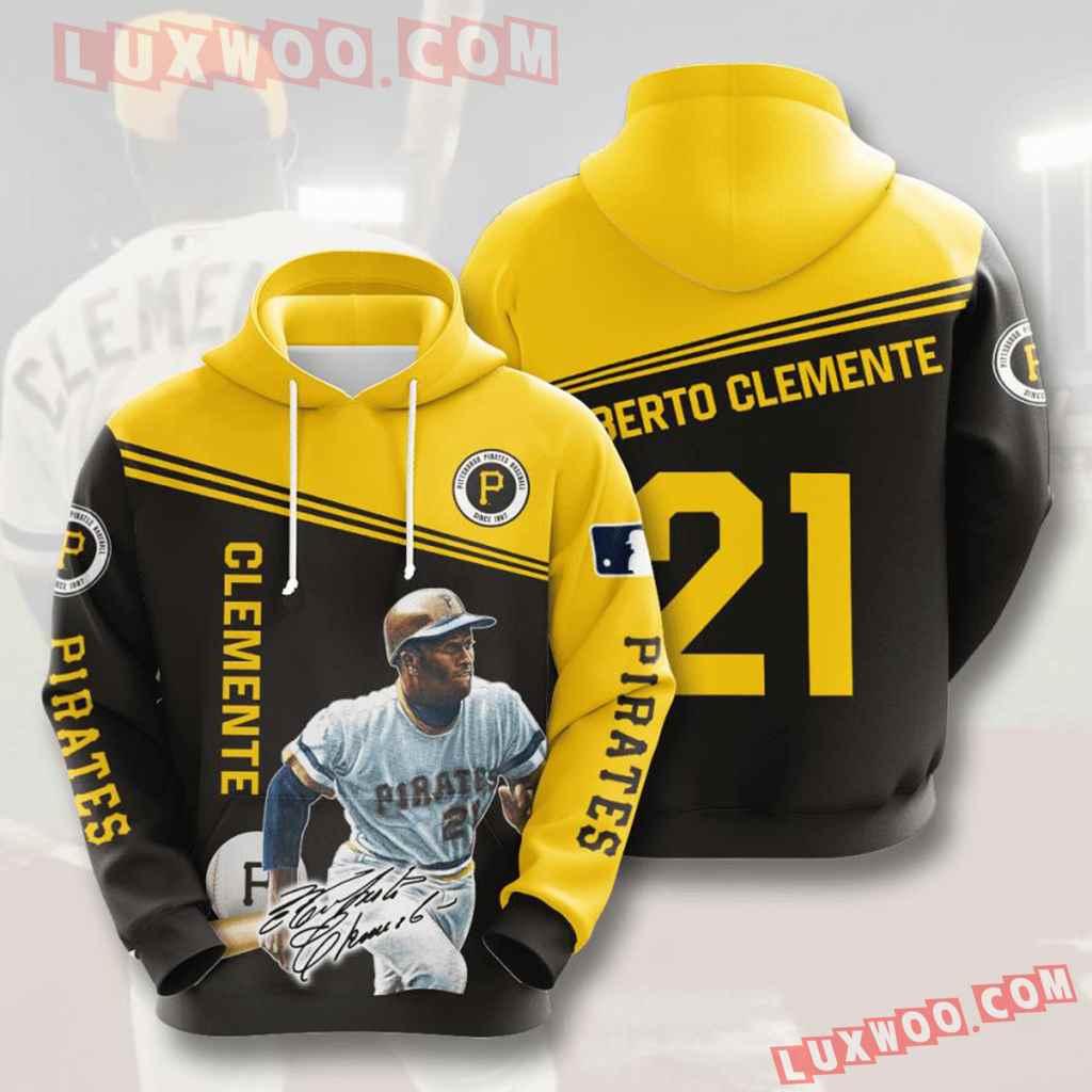 Mlb Pittsburgh Pirates 3d Hoodies Printed Zip Hoodies Sweatshirt Jacket V9
