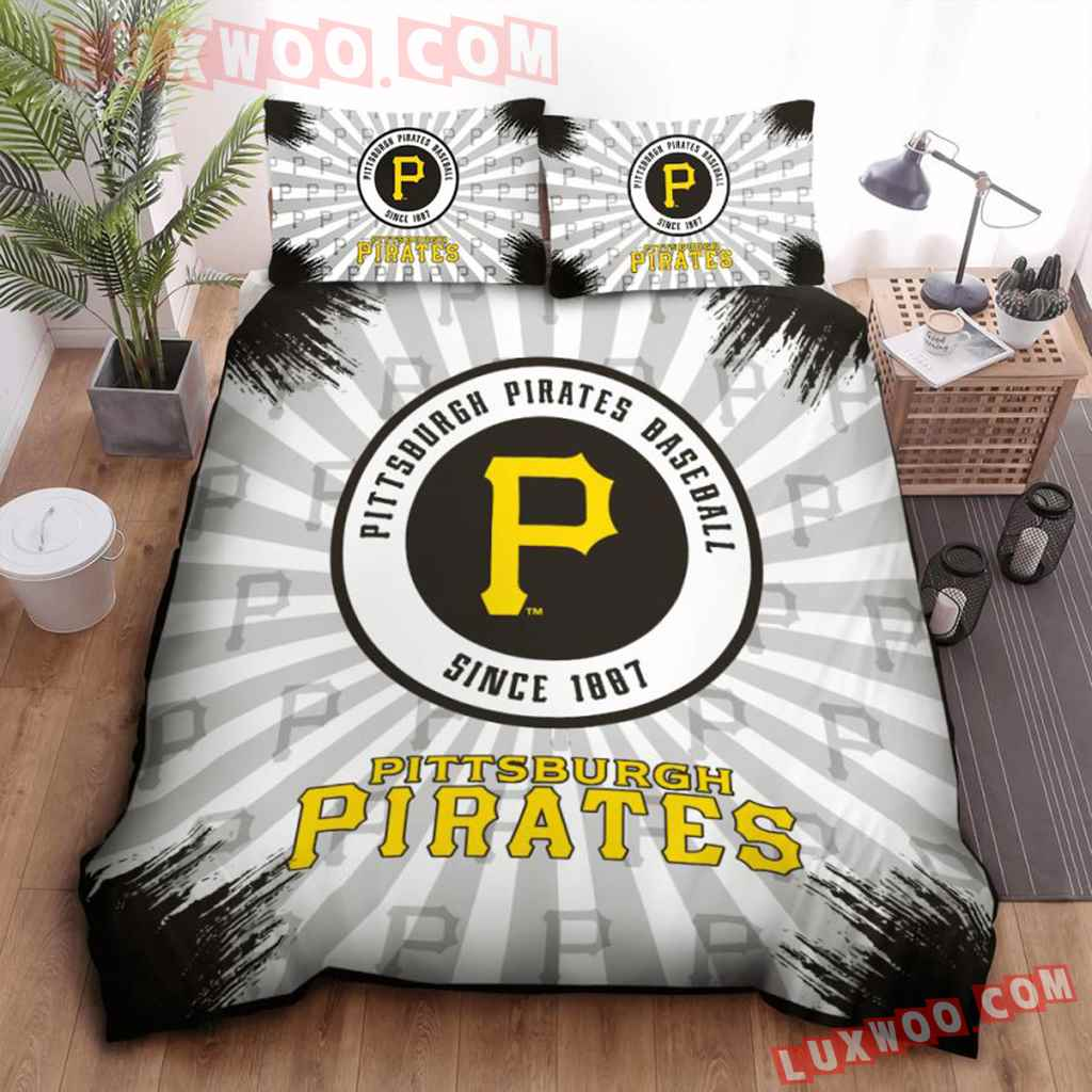 Mlb Pittsburgh Pirates 3d Quilt Bedding Set V1