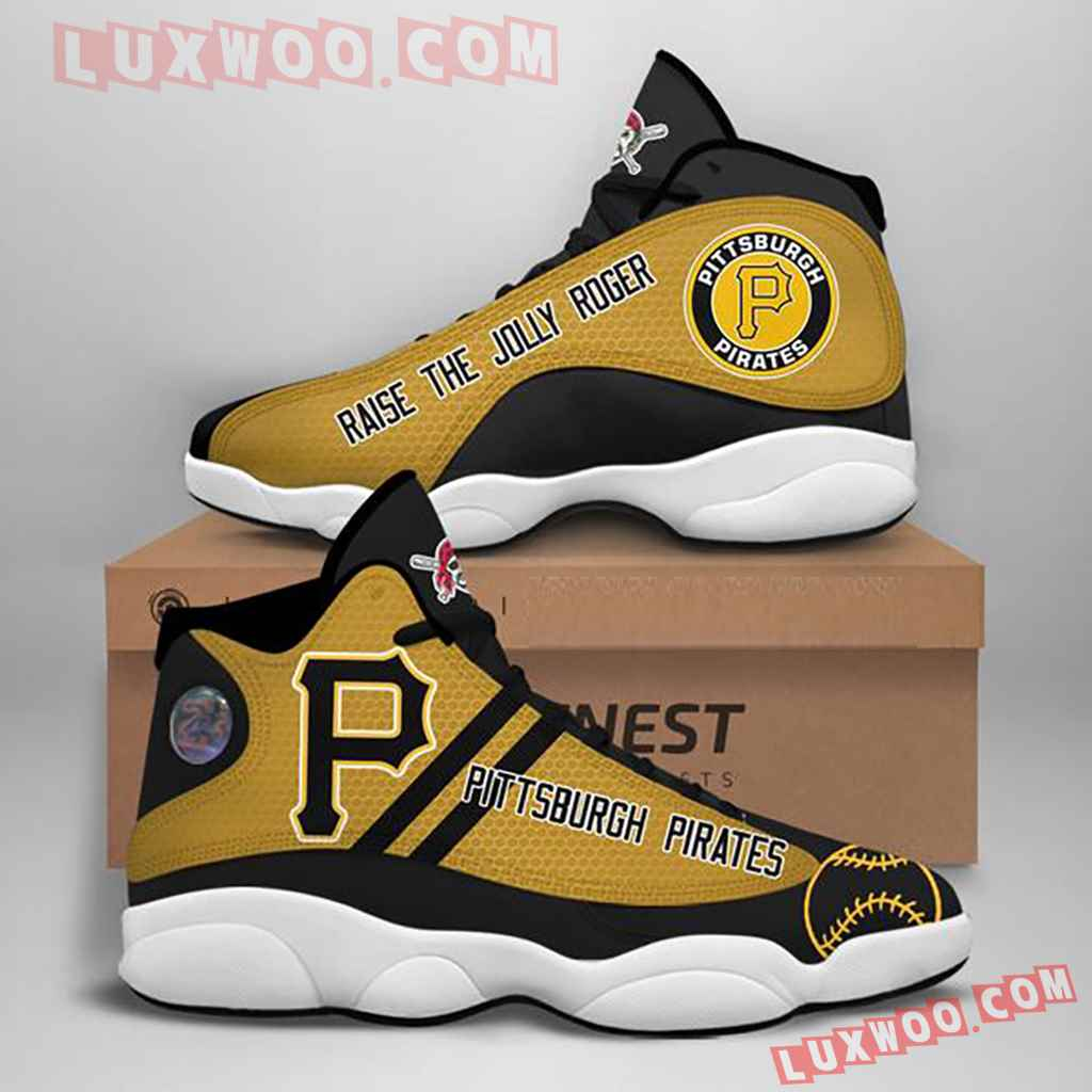 Mlb Pittsburgh Pirates Air Jordan 13 Custom Shoes Sneaker V1