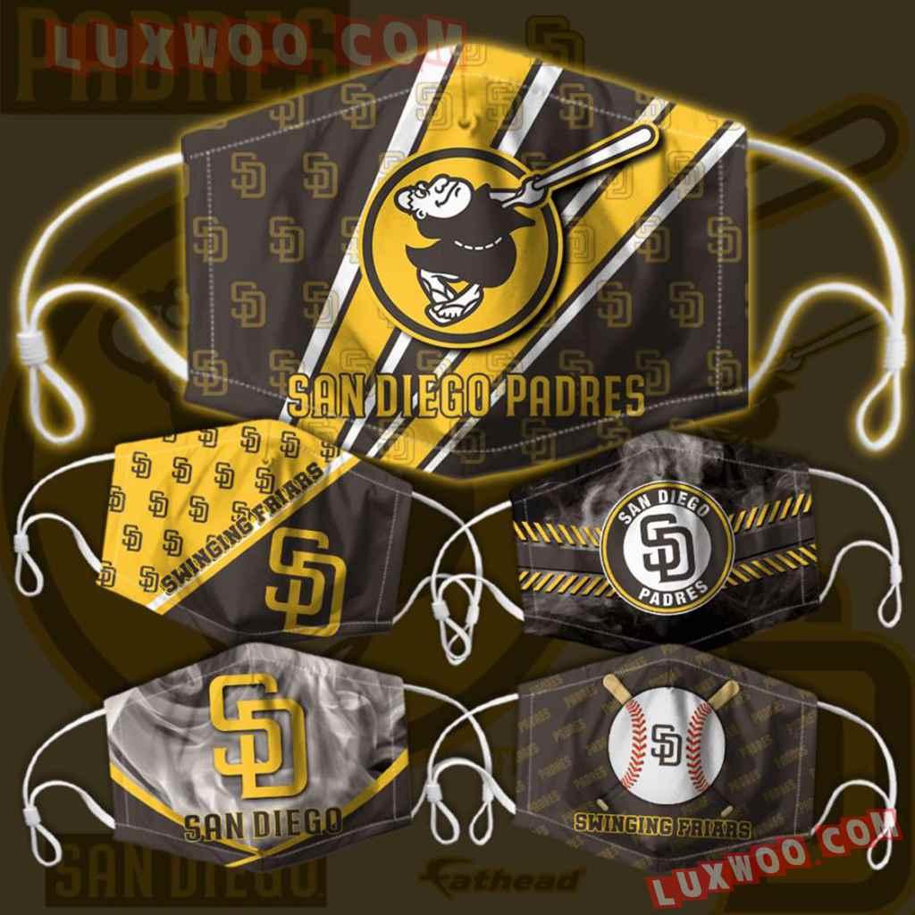 Mlb San Diego Padres 3d Face Mask Combo 5 V1