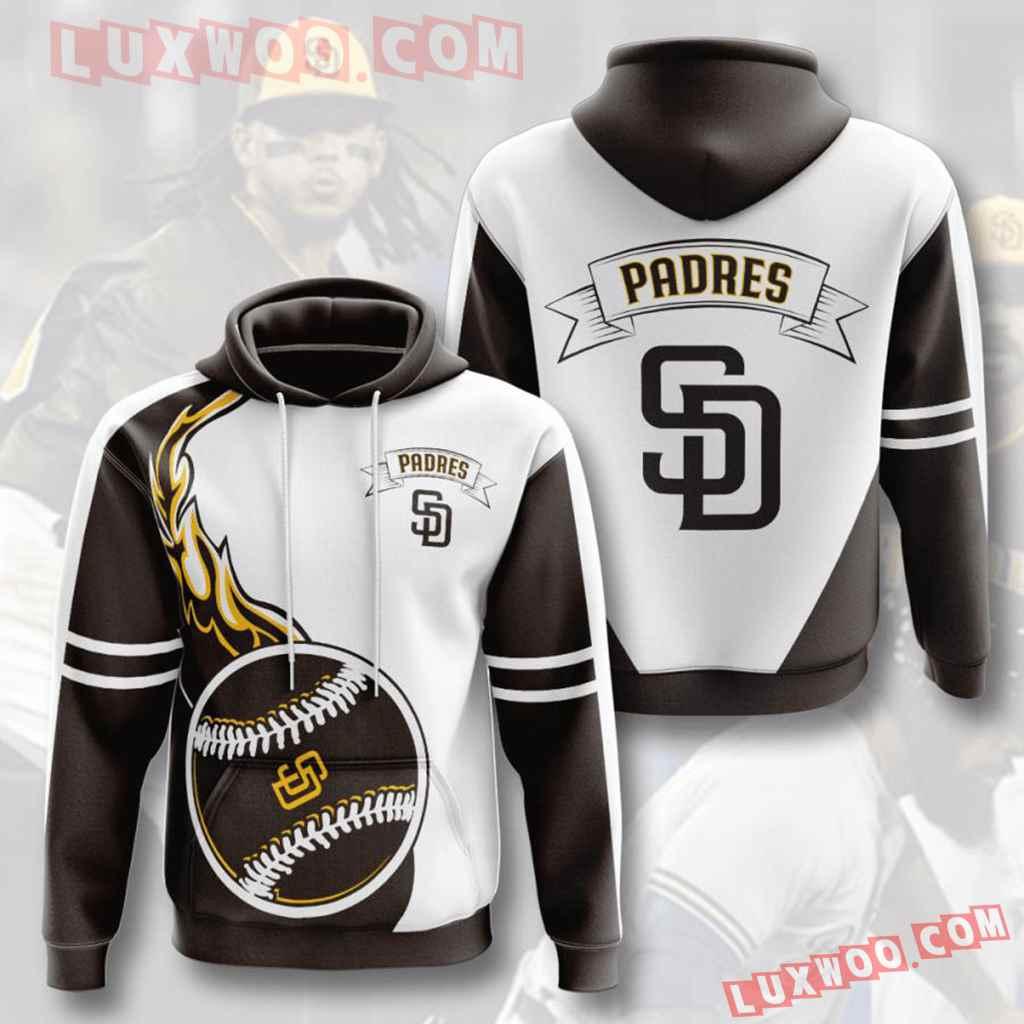 Mlb San Diego Padres 3d Hoodies Printed Zip Hoodies Sweatshirt Jacket V3