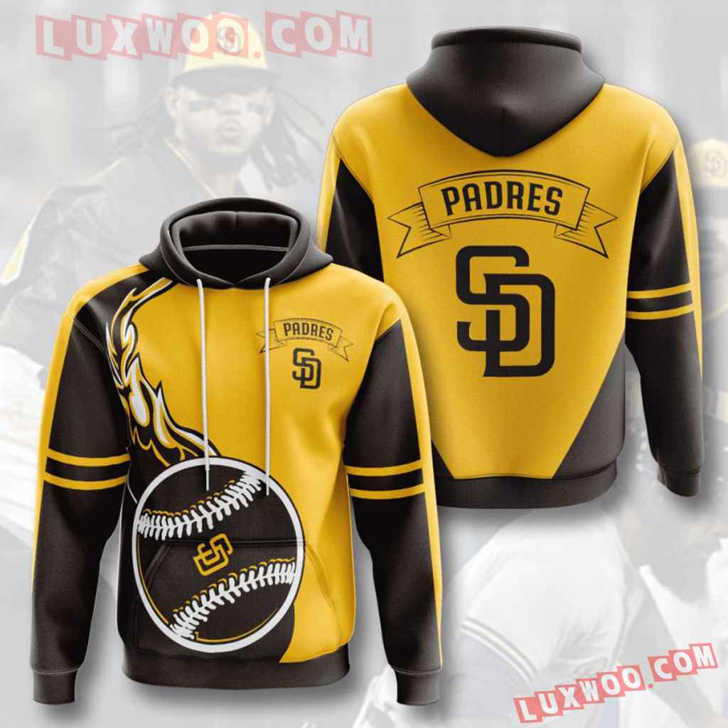 Mlb San Diego Padres 3d Hoodies Printed Zip Hoodies Sweatshirt Jacket V4