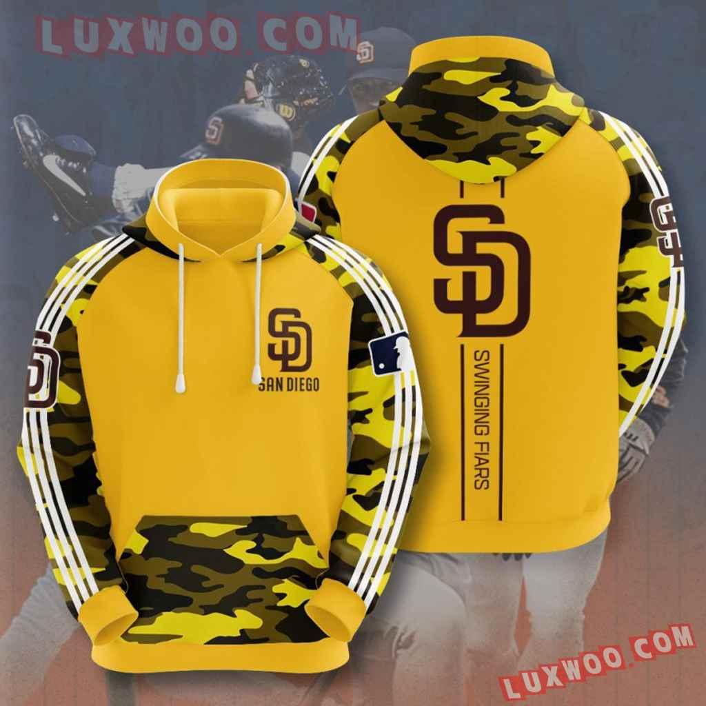 Mlb San Diego Padres 3d Hoodies Printed Zip Hoodies Sweatshirt Jacket V5