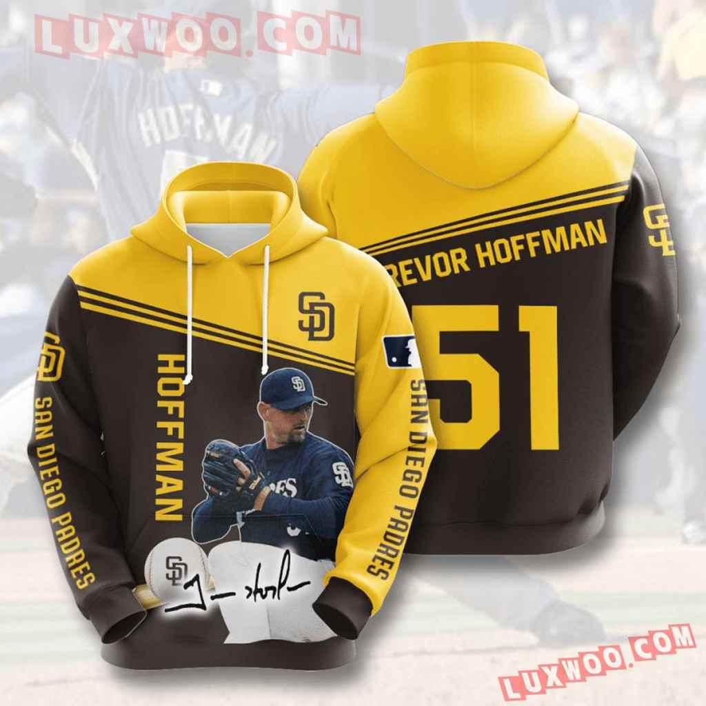 Mlb San Diego Padres 3d Hoodies Printed Zip Hoodies Sweatshirt Jacket V6