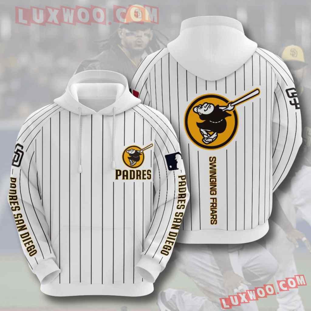 Mlb San Diego Padres 3d Hoodies Printed Zip Hoodies Sweatshirt Jacket V7