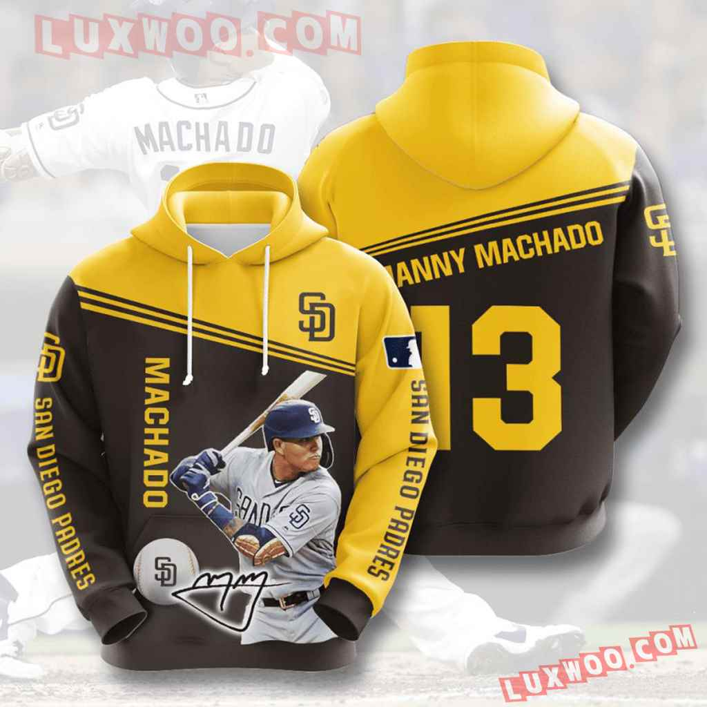 Mlb San Diego Padres 3d Hoodies Printed Zip Hoodies Sweatshirt Jacket V8