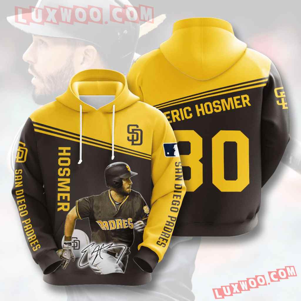 Mlb San Diego Padres 3d Hoodies Printed Zip Hoodies Sweatshirt Jacket V9