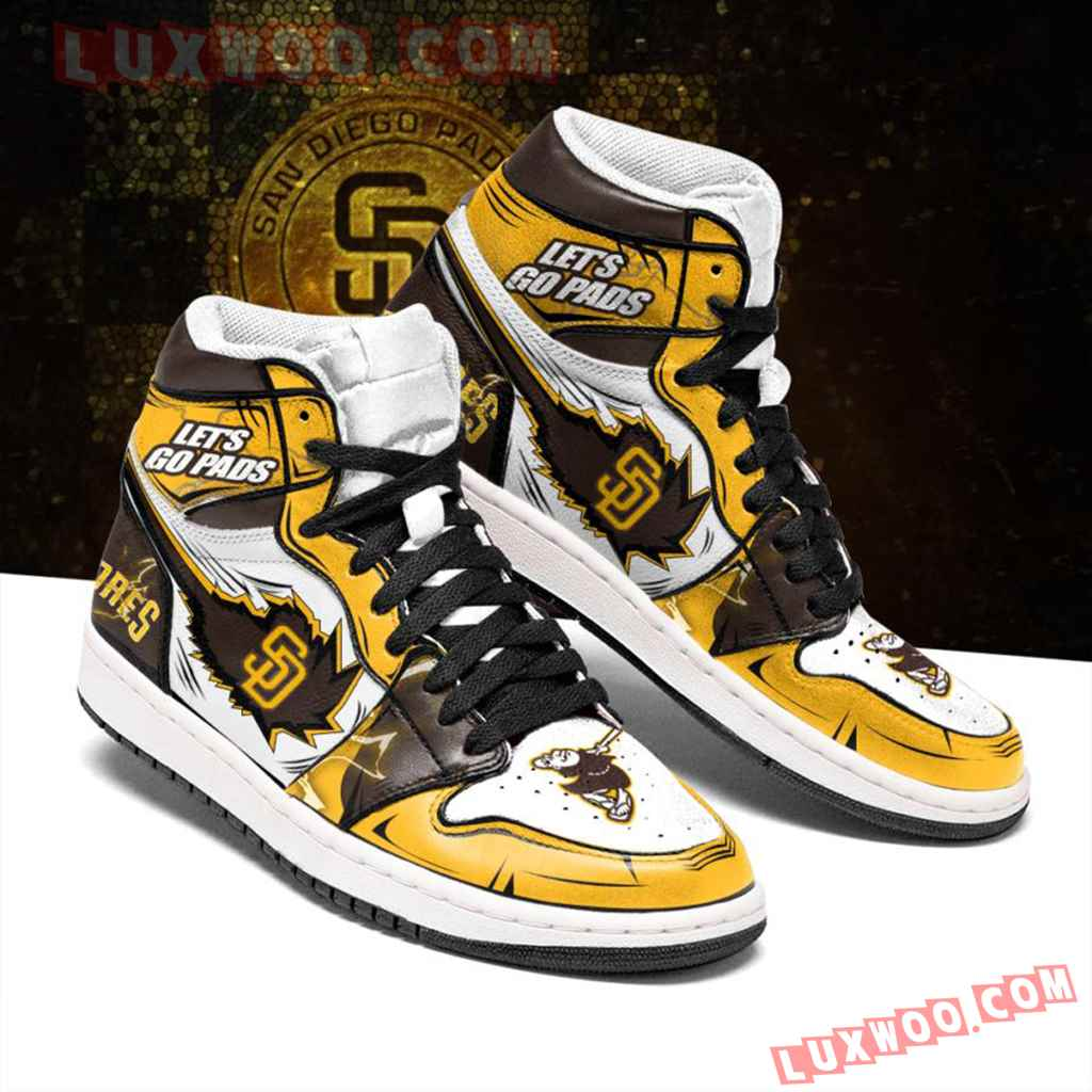 Mlb San Diego Padres Air Jordan 1 Custom Shoes Sneaker V1