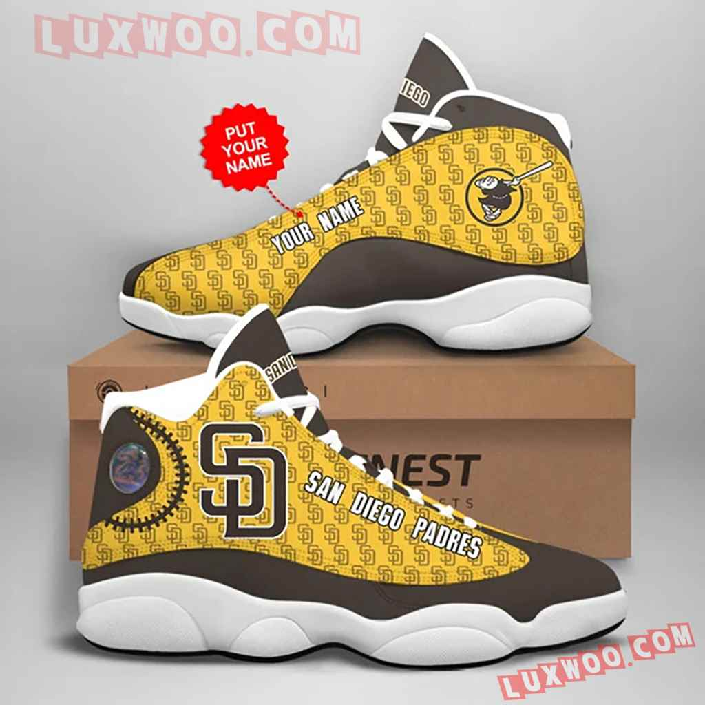 Mlb San Diego Padres Air Jordan 13 Custom Shoes Sneaker V1 Personalized