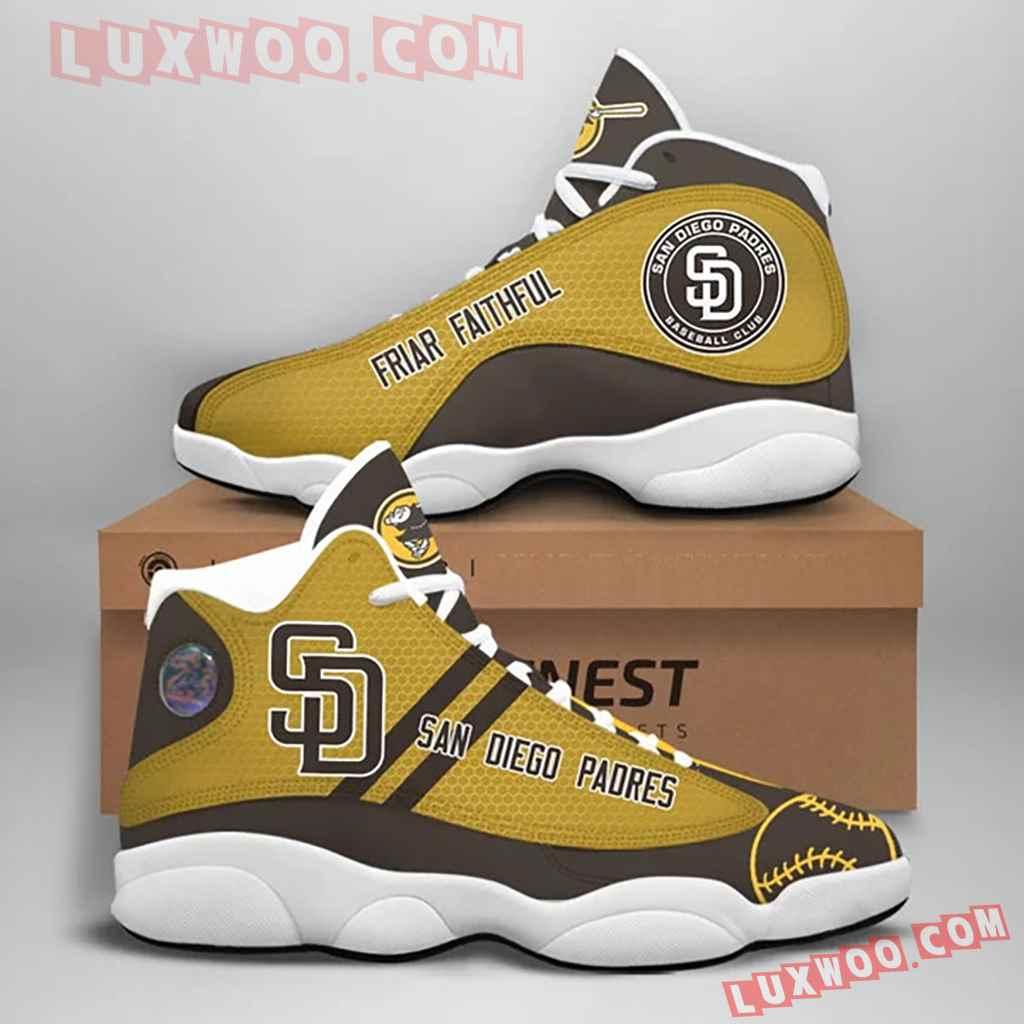 Mlb San Diego Padres Air Jordan 13 Custom Shoes Sneaker V1