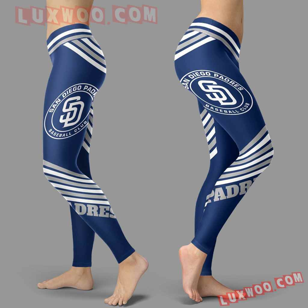 Mlb San Diego Padres Leggings 3d Custom Print Leggings Sport V2