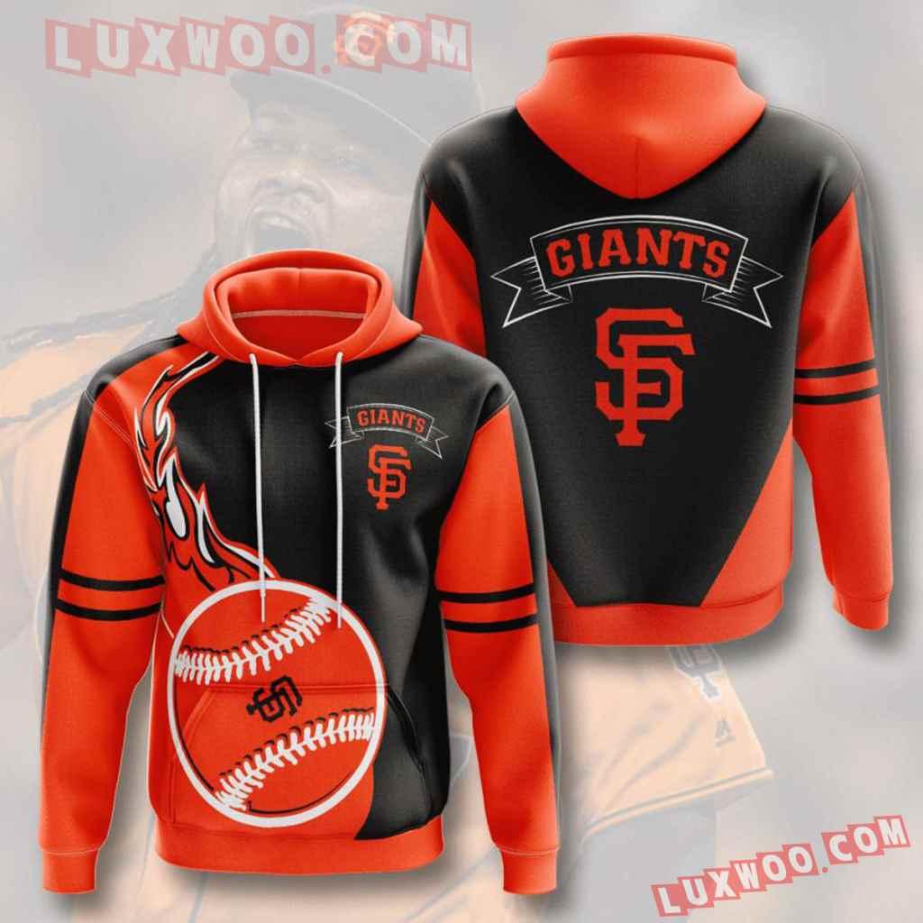 Mlb San Francisco Giants 3d Hoodies Printed Zip Hoodies Sweatshirt Jacket V3