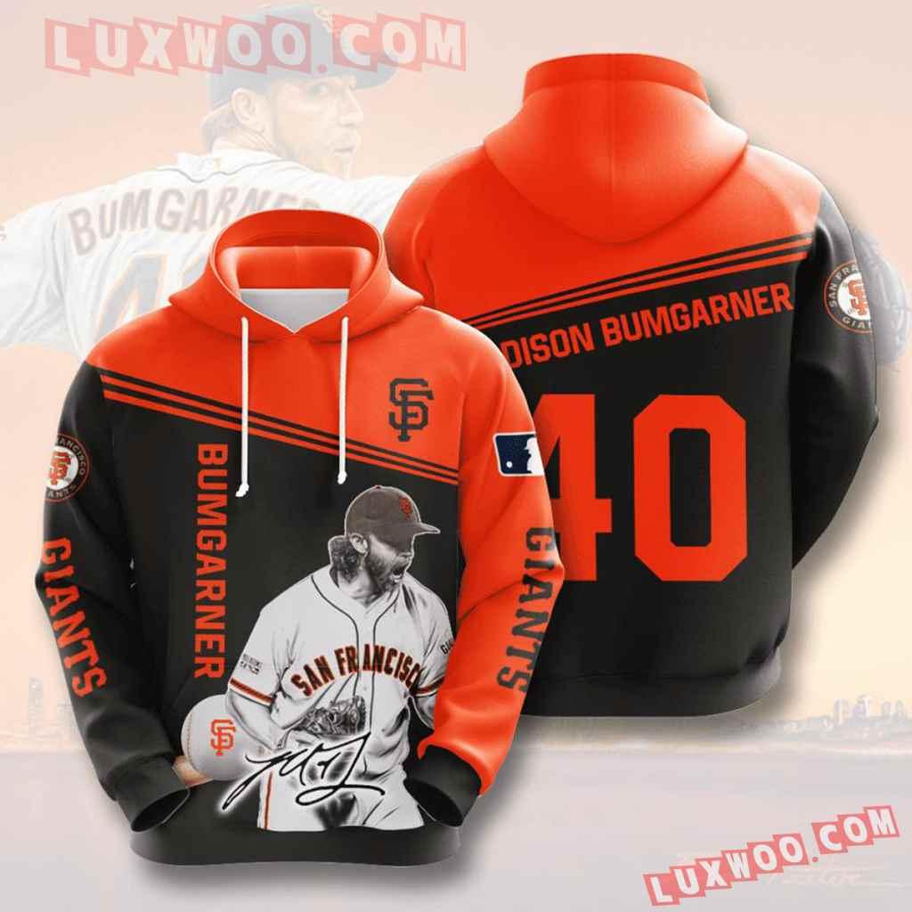 Mlb San Francisco Giants 3d Hoodies Printed Zip Hoodies Sweatshirt Jacket V6