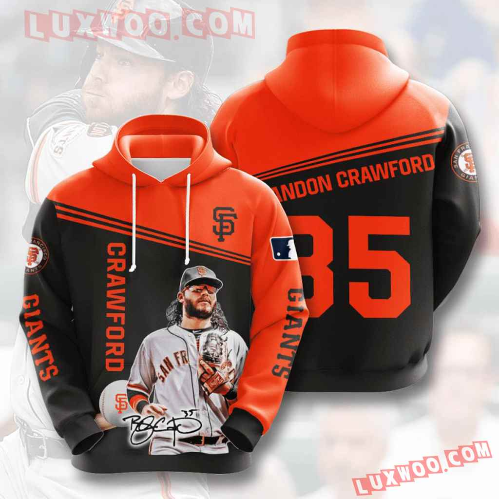 Mlb San Francisco Giants 3d Hoodies Printed Zip Hoodies Sweatshirt Jacket V7