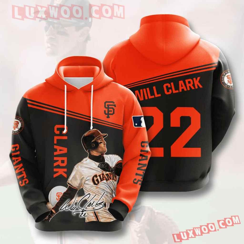 Mlb San Francisco Giants 3d Hoodies Printed Zip Hoodies Sweatshirt Jacket V8