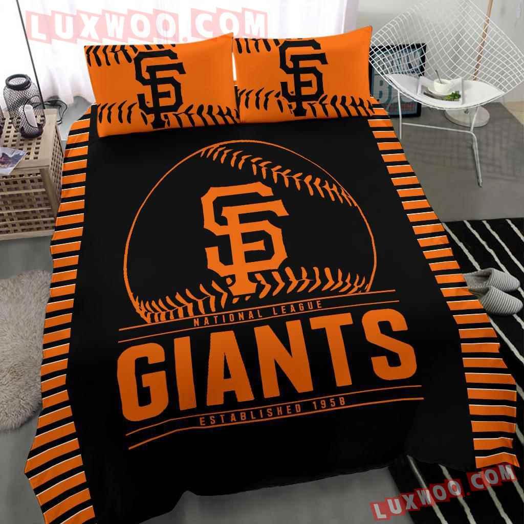 Mlb San Francisco Giants 3d Quilt Bedding Set V1