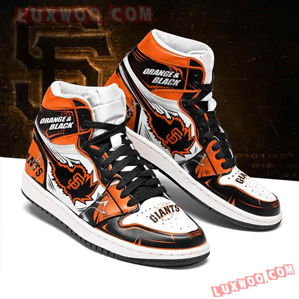 Mlb San Francisco Giants Air Jordan 1 Custom Shoes Sneaker V1