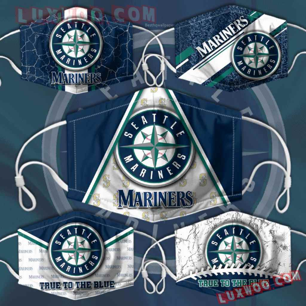Mlb Seattle Mariners 3d Face Mask Combo 5 V1