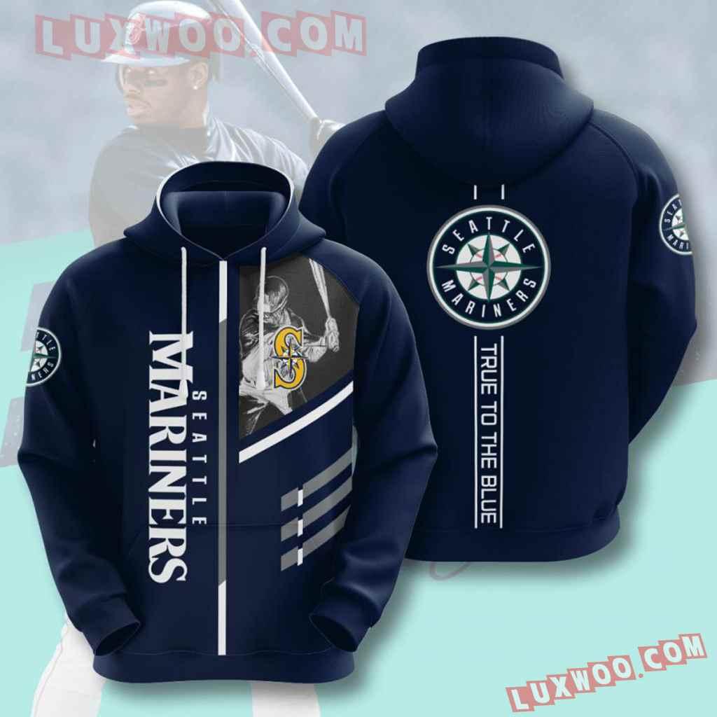 Mlb Seattle Mariners 3d Hoodies Printed Zip Hoodies Sweatshirt Jacket V1