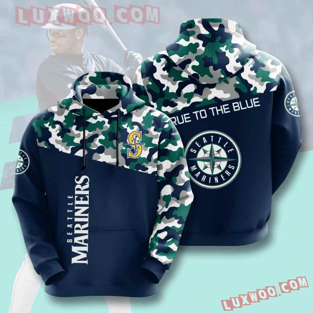 Mlb Seattle Mariners 3d Hoodies Printed Zip Hoodies Sweatshirt Jacket V2