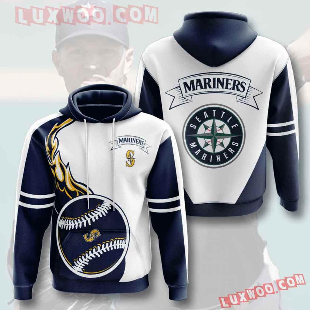 Mlb Seattle Mariners 3d Hoodies Printed Zip Hoodies Sweatshirt Jacket V3