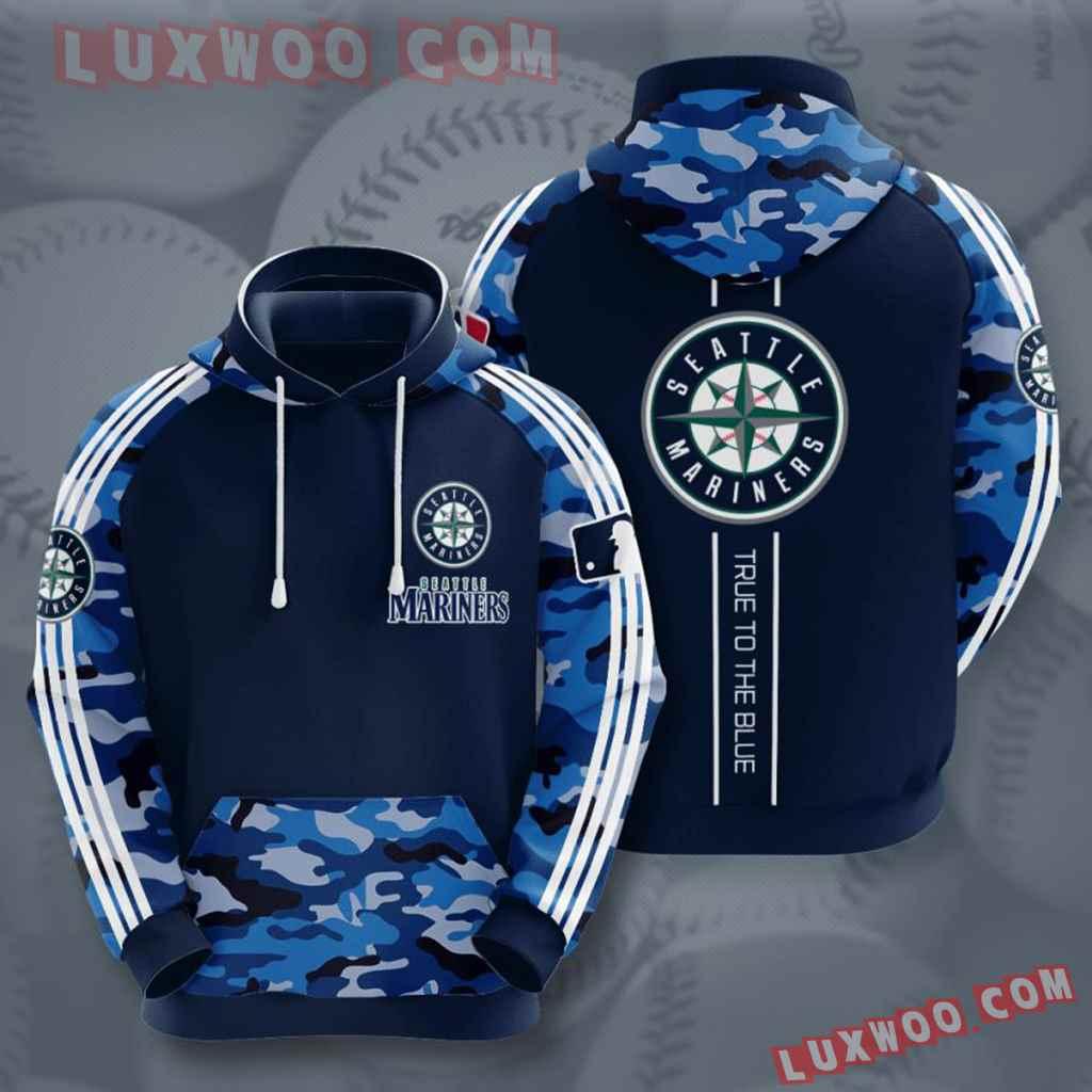 Mlb Seattle Mariners 3d Hoodies Printed Zip Hoodies Sweatshirt Jacket V4