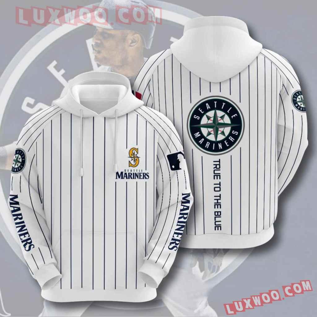 Mlb Seattle Mariners 3d Hoodies Printed Zip Hoodies Sweatshirt Jacket V5