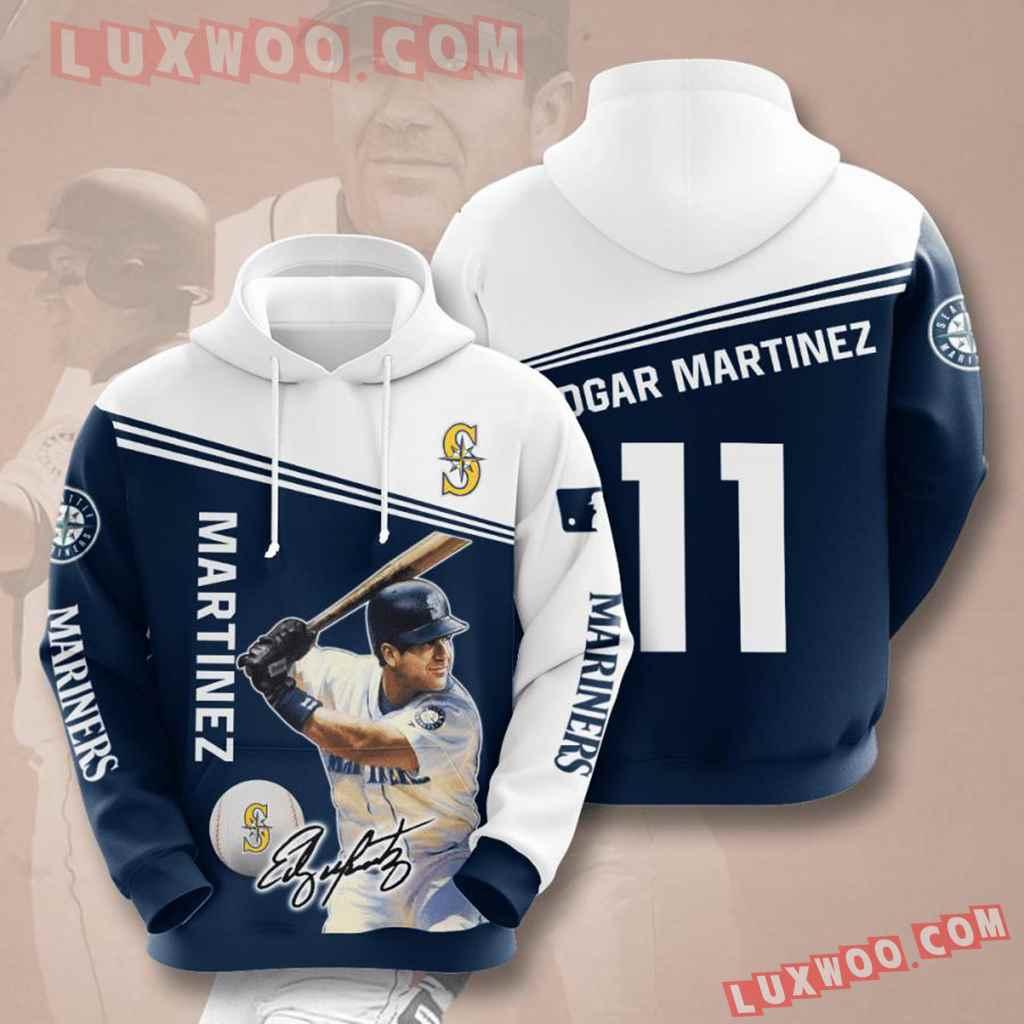 Mlb Seattle Mariners 3d Hoodies Printed Zip Hoodies Sweatshirt Jacket V6