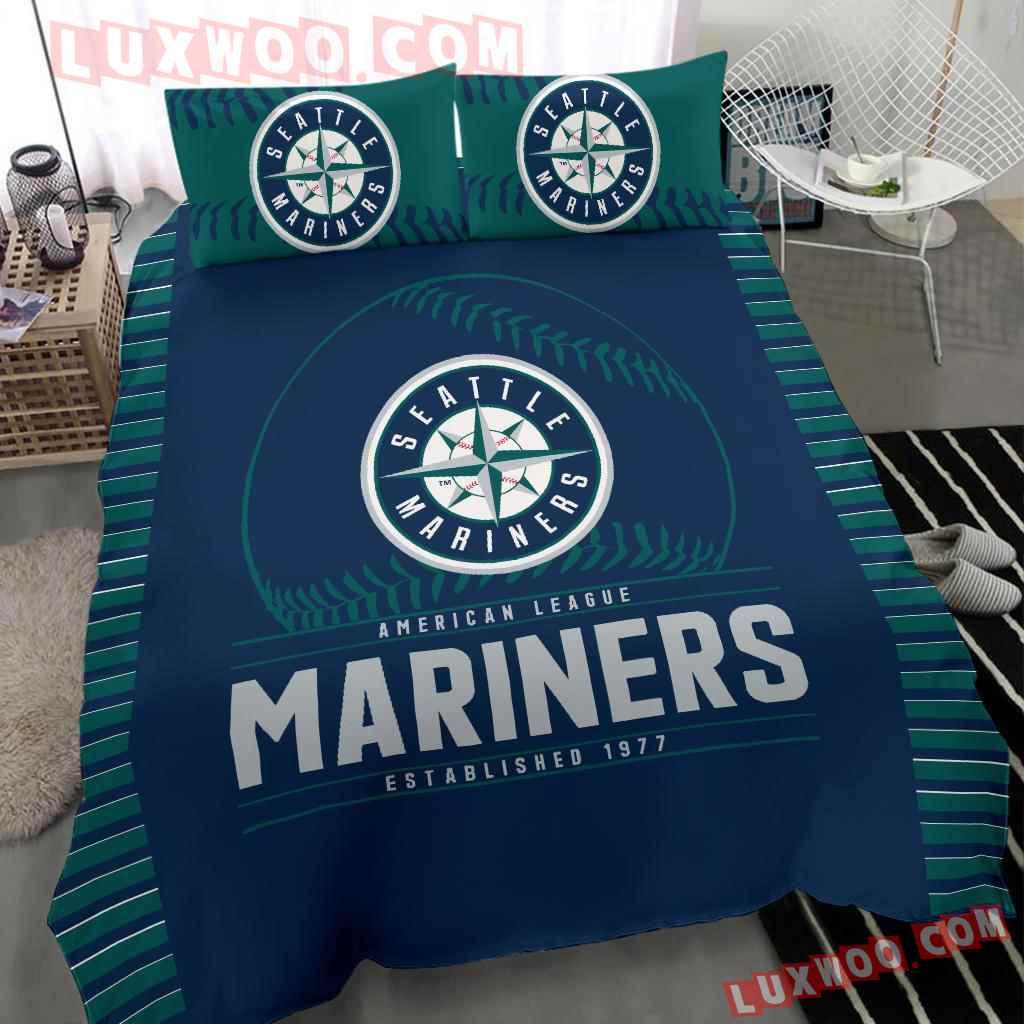 Mlb Seattle Mariners 3d Quilt Bedding Set V1