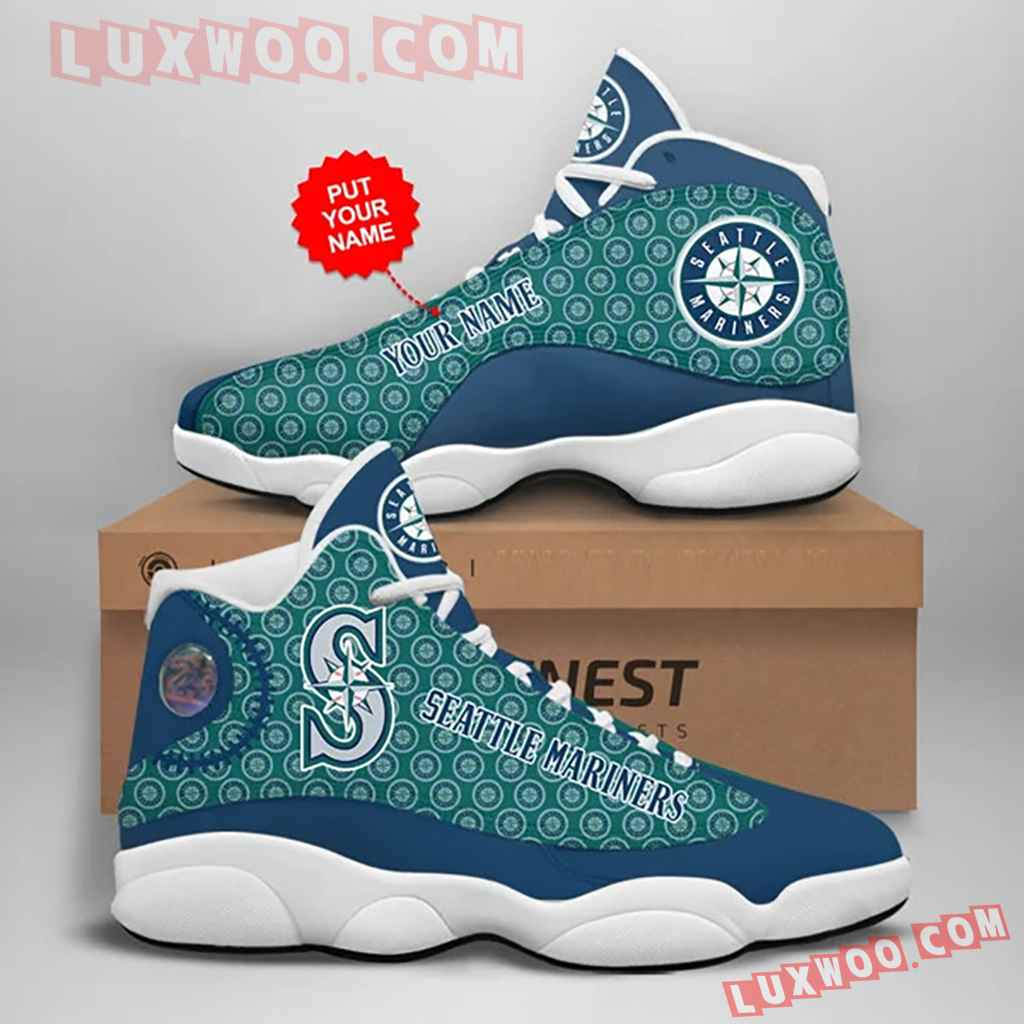 Mlb Seattle Mariners Air Jordan 13 Custom Shoes Sneaker V1 Personalized