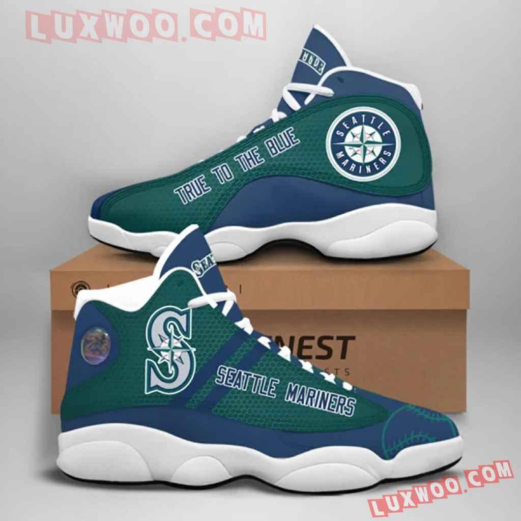 Mlb Seattle Mariners Air Jordan 13 Custom Shoes Sneaker V1