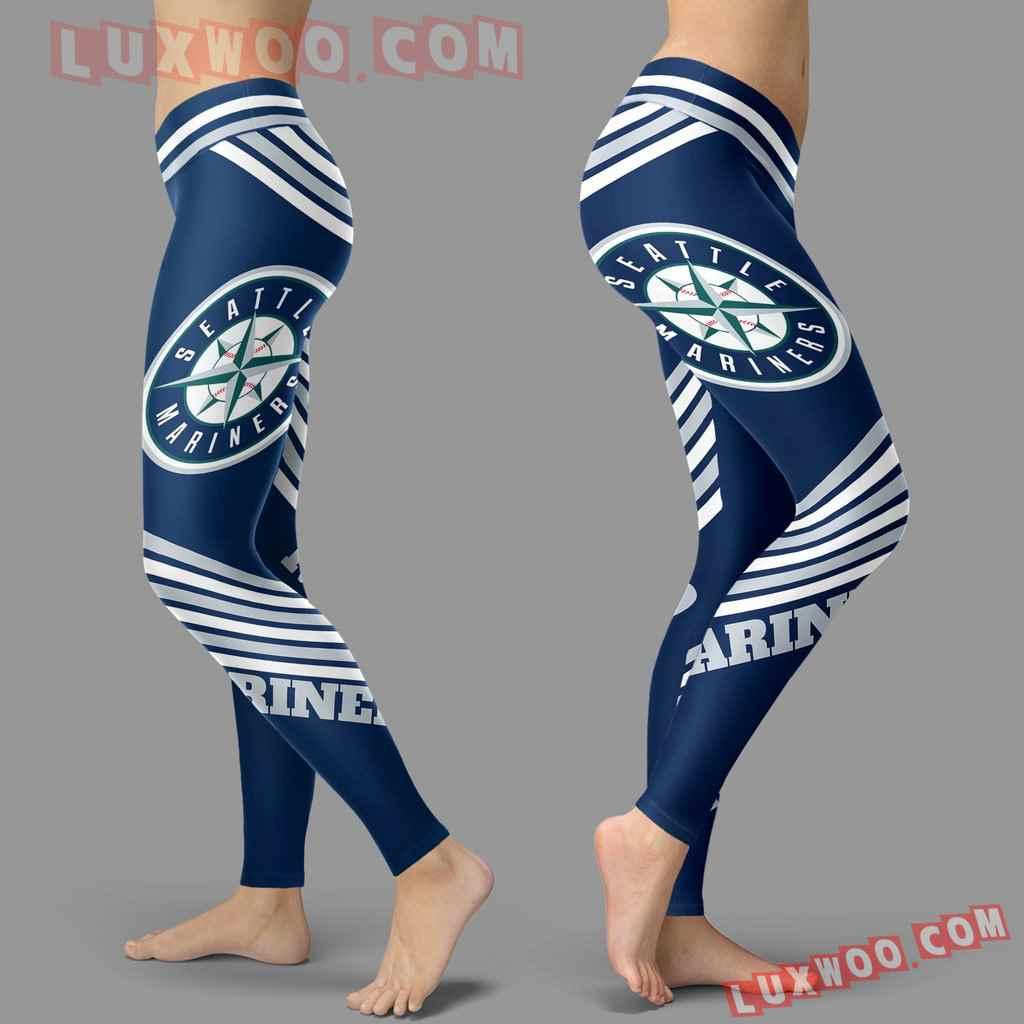 Mlb Seattle Mariners Leggings 3d Custom Print Leggings Sport V2