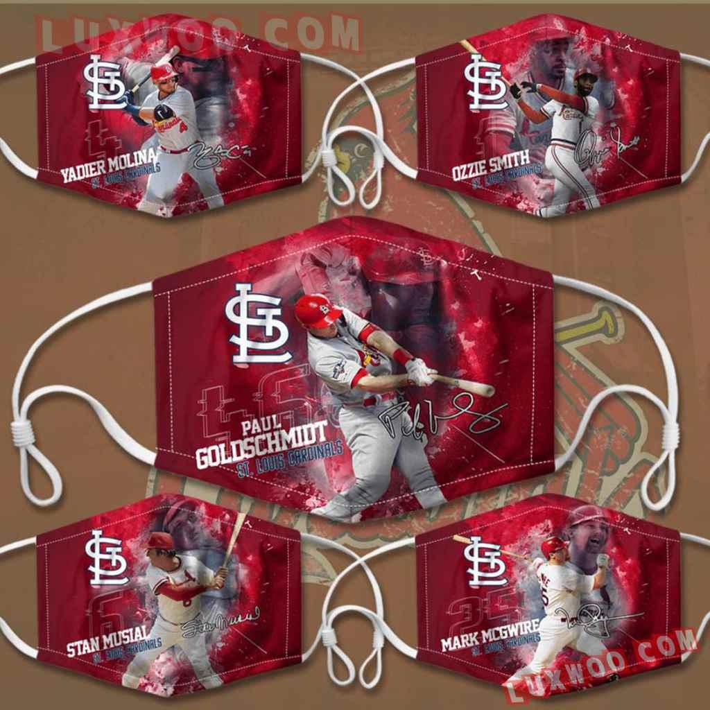 Mlb St Louis Cardinals 3d Face Mask Combo 5 V1
