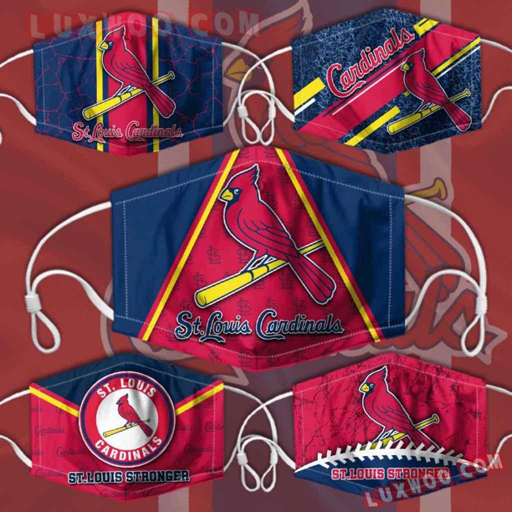 Mlb St Louis Cardinals 3d Face Mask Combo 5 V3
