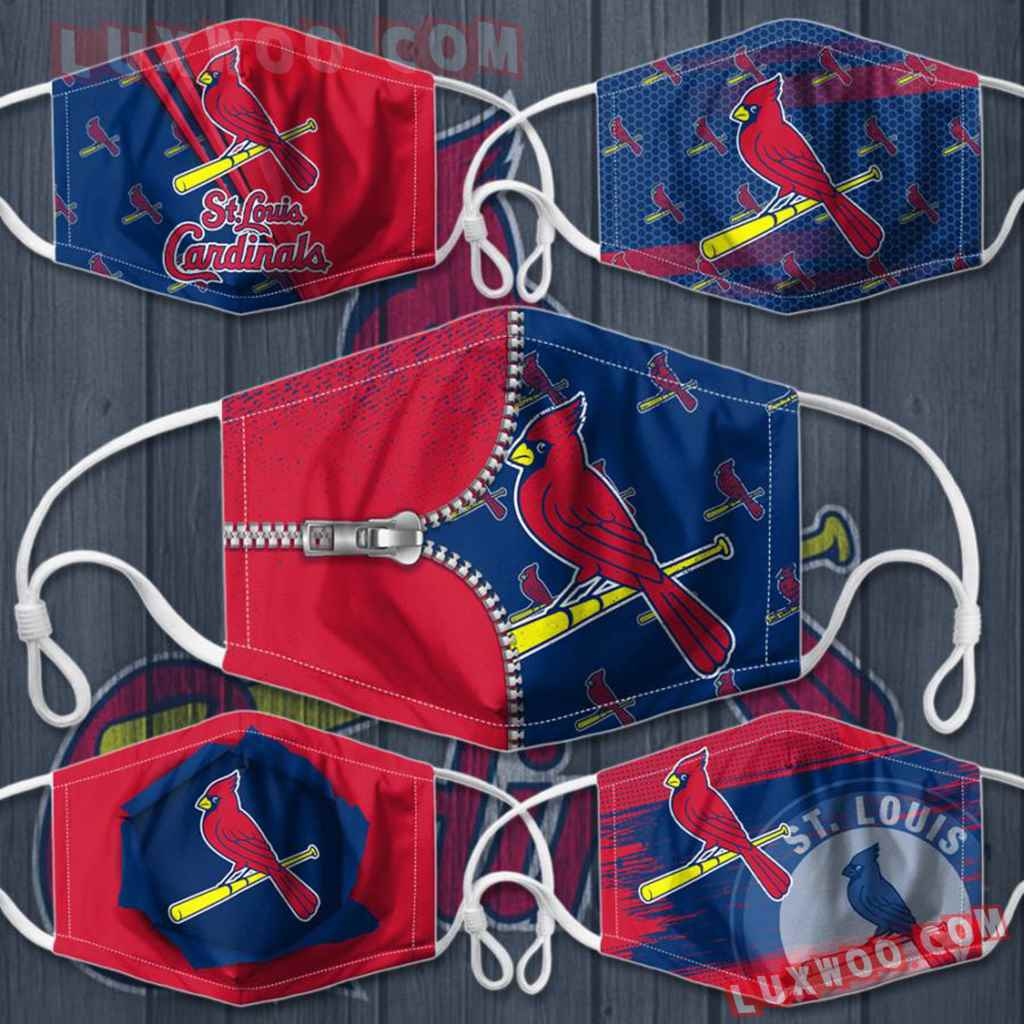 Mlb St Louis Cardinals 3d Face Mask Combo 5 V4