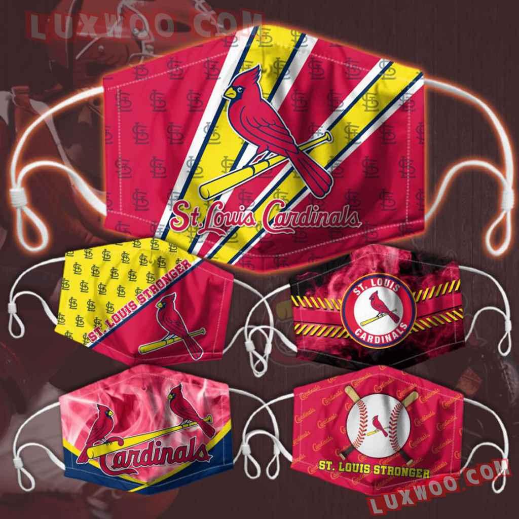 Mlb St Louis Cardinals 3d Face Mask Combo 5 V5